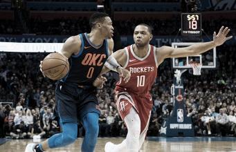 Russell Westbrook ed Eric Gordon. Fonte: NBA.com/Twitter