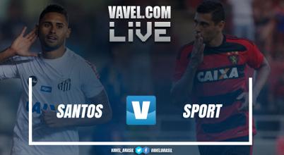 Resultado Santos x Sport no Campeonato Brasileiro 2017 (0-1)