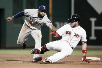 Boston Red Sox go 2-for-14 with runners in scoring position, fall to Texas Rangers, 7-2