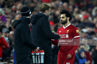 Liverpool winger Mohamed Salah came off with an injury against Leicester, says Klopp