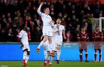 Swansea City 1-0 Liverpool: Struggling Swans shock below-par Reds through Alfie Mawson's effort
