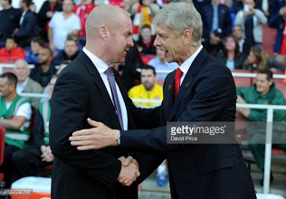 Dyche praises Wenger as the Burnley manager reaches a milestone of his own