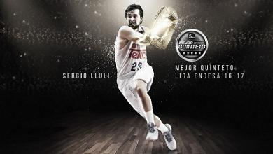 Sergio Llull, elegido en el mejor quinteto de la Liga Endesa