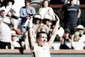 WTA Indian Wells: Simona Halep recovers from the brink to oust Petra Martic