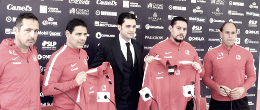 Alfonso Sosa fue presentado como técnico del Atlético de San Luis