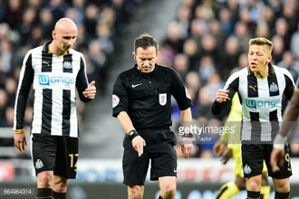 Keith Stroud apologises for Newcastle United penalty blunder