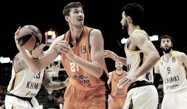 Valencia consigue la séptima victoria en Euroliga al ganar a Khimki