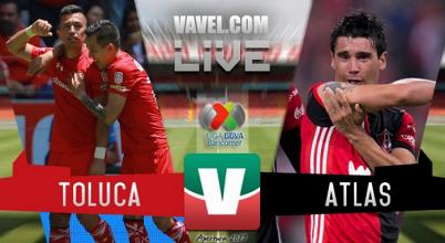 Resultado y goles del Toluca 3-2 Atlas de la Liga MX 2017