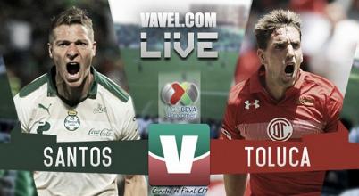 Resultado y goles delSantos 1 Toluca 4 de la Liga Mx 2017