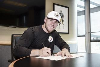 Pittsburgh Steelers sign No. 1 Draft Pick, T.J. Watt