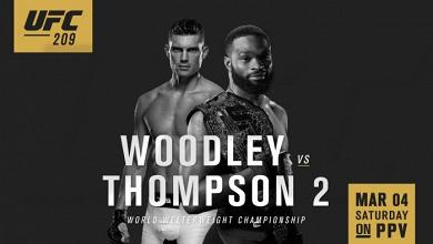 UFC 209: Woodley vs Thompson 2: Woodley retains his title via majority decision
