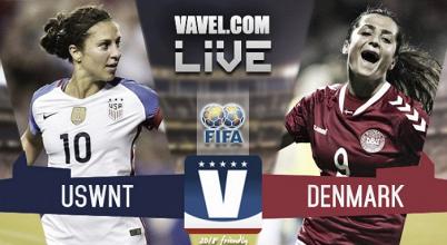 USWNT vs Denmark Live Stream Score Commentary in 2018 friendly