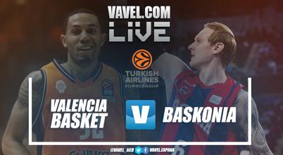 Resultado Valencia Basket 71 - Baskonia 81 en Euroliga 2018