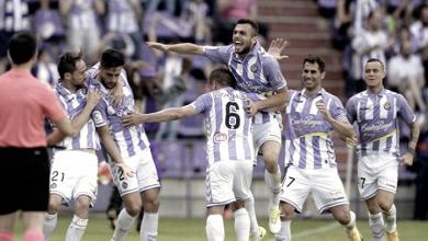 El Real Valladolid no cede y mantiene al Huesca fuera del playoff