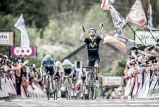 Depois de 2006 e 2014, Alejandro Valverde volta a triunfar na Flèche Wallonne