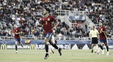 Asensio marca três e Espanha goleia Macedônia na estreia do Europeu Sub-21