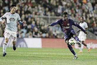 Dembélé marca pela primeira vez na Liga, mas reservas do Barça ficam no empate com Celta