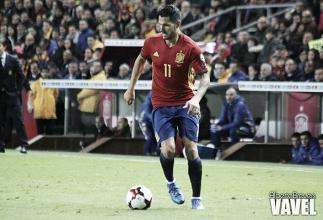 Vitolo juega 14 minutos en el empate de España frente a Colombia