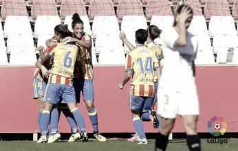 El Valencia Femenino no le perdonó los fallos de defensa al Sevilla Femenino