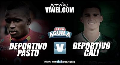 Previa Deportivo Pasto vs Deportivo Cali: la fortaleza 'volcánica' frente a la debilidad 'azucarera'