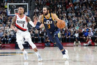 Em jogo marcado por boas atuações das defesas, Utah Jazz derrota Portland Trail Blazers