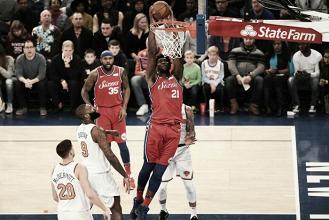 Enes Kanter brilha, mas Sixers batem Knicks na abertura da rodada de Natal