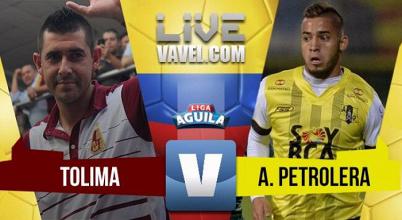 Deportes Tolima suma de a tres por primera vez en la liga contra Alianza Petrolera