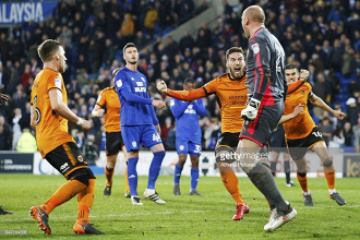 Cardiff City 0-1 Wolverhampton Wanderers: Hosts miss two stoppage time penalties to put Wolves on brink of title