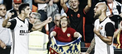 Guedes coge el timón y da los tres puntos al Valencia