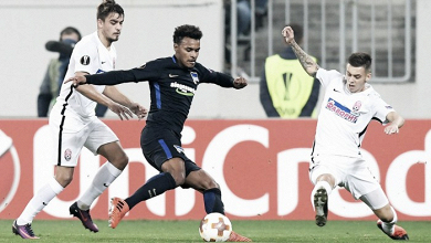 Dos golazos del Zorya tumbaron al Hertha