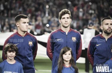 Coutinho, Sergi Roberto y Jordi Alba, algunos nombres propios de la remontada ante el Sevilla. FOTO: Noelia Déniz