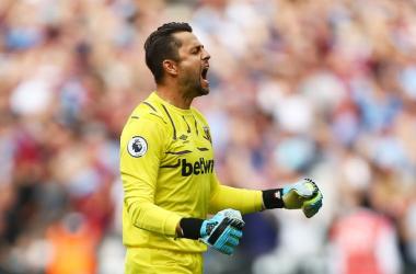 "<div style=""text-align: start; text-indent: 20px;"">West Ham goalkeeper Lukasz Fabianski&nbsp; (Image: Jordan Mansfield/Getty Images)</div>"