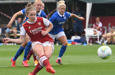 Kim Little and the Gunners were too much for Brighton at Meadow Park. Photo by David Price/Arsenal FC via Getty Images.