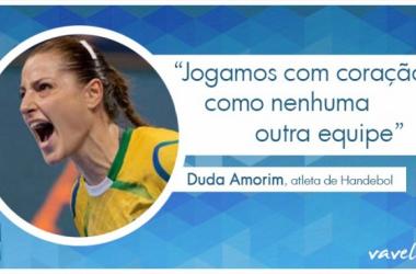 """Entrevista. Duda Amorim almeja medalha do Handebol no Rio 2016: """"Uma força a mais com torcida"""""""