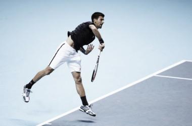 Djokovic en la disputa de un punto (Foto: Zimbio)
