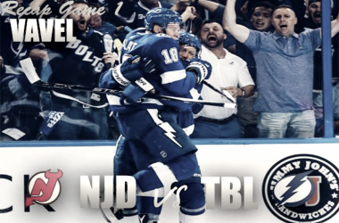 Tampa Bay Lightning dominate game 1 against the New Jersey Devils (Photomontage: Vavel)