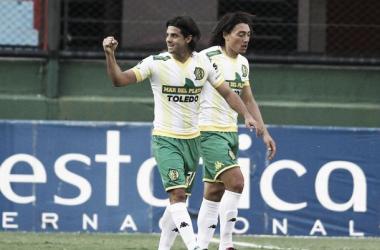 Diego Lagos había aportado el gol para Aldosivi previo a la suspensión. Foto: PlayFutbol