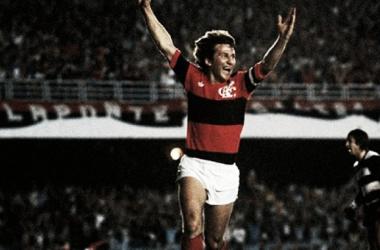 La magia de Zico, el máximo ídolo del Fla, que llevó a su equipo a conquistar América en el '81 (Foto: Club Regatas de Flamengo).