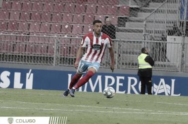 Cristian Herrera en el encuentro contra el Alcorcón en el que anotó un doblete/ Fto: cdlugo.com