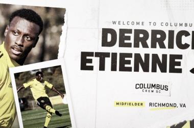 Columbus Crew SC firma a Derrick Ettiene Jr.