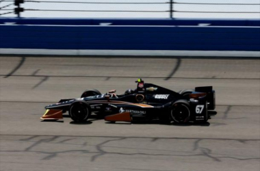 Josef Newgarden on track at Fontana. Photo: Chris Jones / INDYCAR
