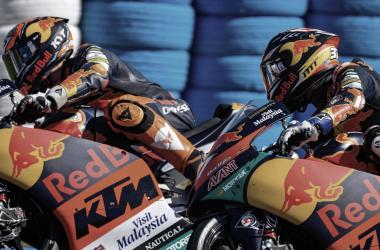 Jaume Masiá y Pedro Acosta en la carrera de Jerez / Fuente: motogp.com