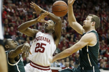 Michigan State ended the Big Ten regular season on a high note with a win in Bloomington. (AP Photo/Sam Riche)