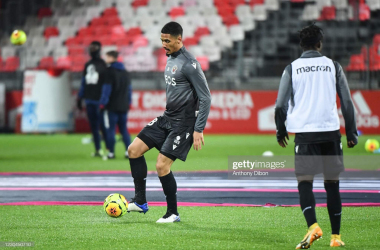 <div>William SALIBA of Nice before the Ligue 1 match between Stade Brest and OGC Nice at Stade Francis Le Ble on January 6, 2021 in Brest, France. (Photo by Anthony Dibon/Icon Sport via Getty Images)<br></div>