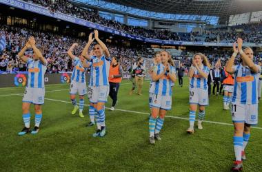 Jugadoras de la Real Sociedad femenino celebrado la victoria contra el Sevilla FC | Imagen: Real Sociedad CF