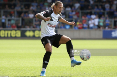 Above: New Bradford City signing Oscar Threlkeld in action for Salford City. (Photo by Charlotte Tattersall/Getty Images)
