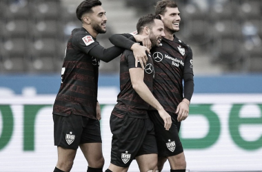 Stuttgart vence Hertha Berlin e segue na parte de cima da Bundesliga