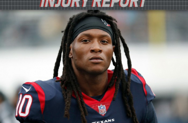 DeAndre Hopkins será baja ante el partido de contra los Colts // Imagen www.nfl.com