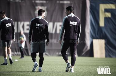 Entrenamiento del Fútbol Club Barcelona en imagen de archivo | Foto de Noelia Déniz, VAVEL