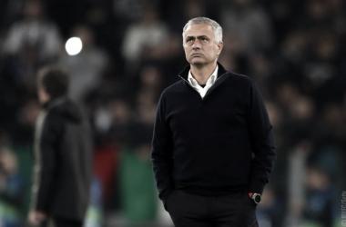 Mourinho durante el partido en Turín. | Imagen: @manutd